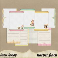 Sweet Spring Journal Cards by harperfinch
