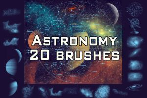 20 astronomy brushes by Allyboodevil