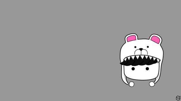 BlackPolarBear Minimalist Wallpaper by IhsanT