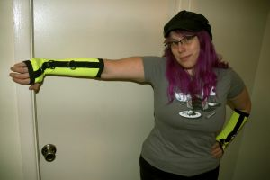 Black and Yellow UV Reactive Arm Warmers by LillyInverse