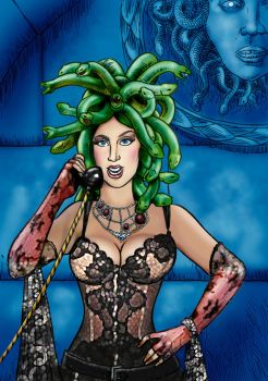 Medusa Will Take Your Call Now by Loneanimator