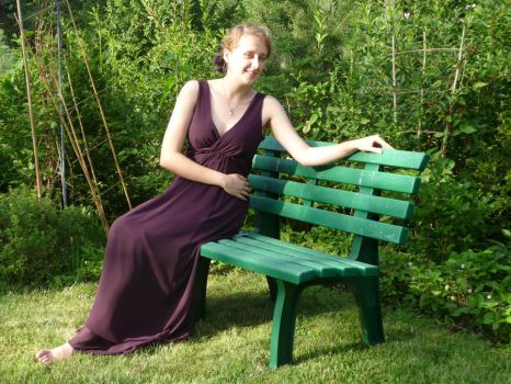 lady - garden bench 5 by indeed-stock