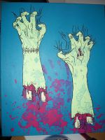 Clawing Zombie Arms by XKiwiiKillerX