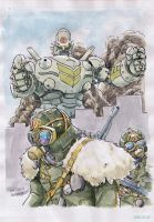 A-robot-and-soldiers by NORIMATSUKeiichi