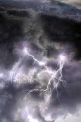 Stormy thunderstorm lightning sky 3 VS by AStoKo by AStoKo
