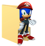 Sonic  Folder Icon [Mario Clothes] by Hinatka3991