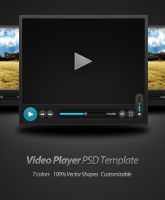 Video Player PSD Template by Rafael-Olivra