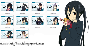 Pack Icons Azusa Nakano by AnneChan34