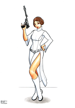 Princess Leia by DemetrioBraga