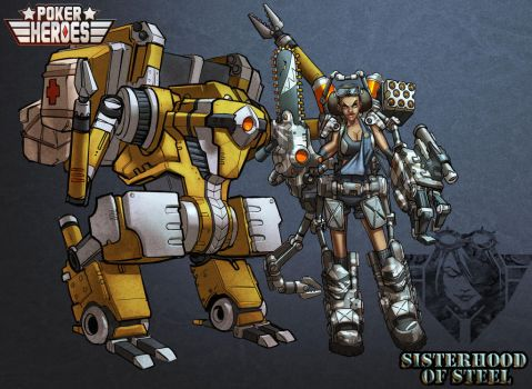 POKER HEROES: Sisters of Steel The Support by billydallaspatton