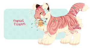 {Auction, Closed} Tropical Flowers Tiger by catwitches