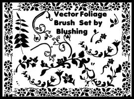 Vector Foliage Brush Set by blushing