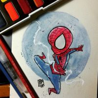 Spidey Watercolor by qins