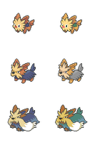 Lillipup, Herdier and Stoutland - Hi-Res Icons by Levaine