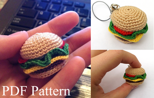 Mini Hamburger Amigurumi Pattern by DaftPassion