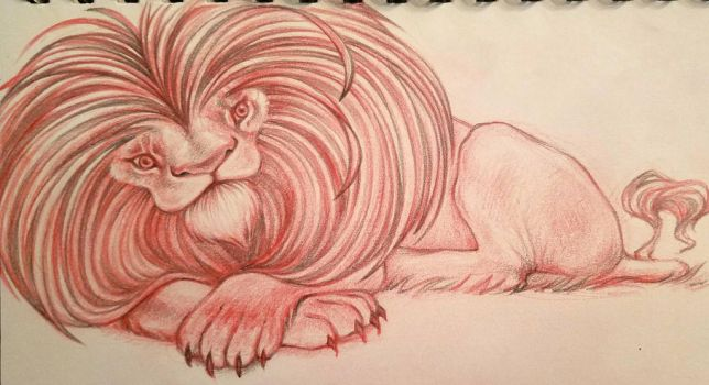 lion character design sketch  by snuapril01