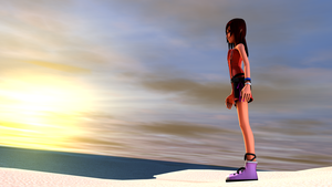 Kairi waits at the shore by TheRPGPlayer