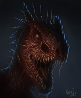 Undead Nycta Rex by drmambo199