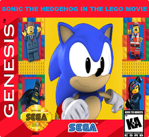 Sonic in The LEGO Movie Cartridge Art by Ghostbustersmaniac