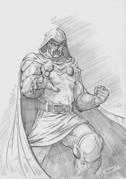 Dr Doom pencils by MenguzzOArt