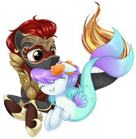 PC - Canius and Posey by Azure-Art-Wave