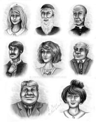 Drygolstadt Characters by AnnimaRe