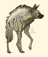 Striped Hyena by FudgeTheDog