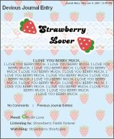 BLUE Strawberry Free Journal by chat-noir