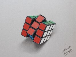 Just another drawing of my own Rubik's Cube by marcellobarenghi