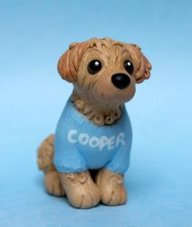 Cooper the Cockapoo dog sculpture for Wendy by SculptedPups