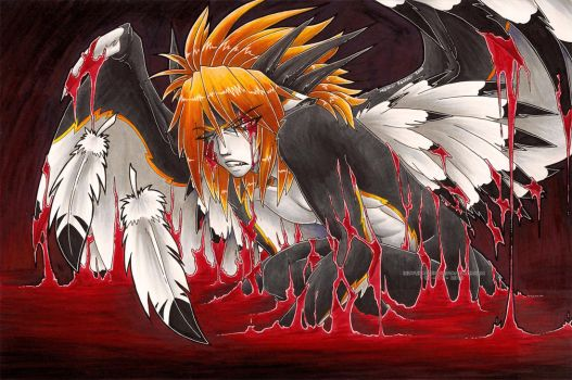 -Bloodlines- Fallen Angel by RizyuKaizen