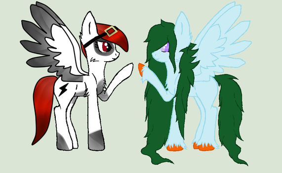 Breedable with Zoeysoftpaws - Nessy and Charlie. by MonsterBonnie