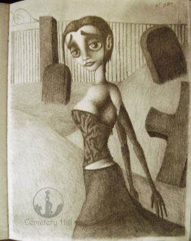 Crystal in the Cemetery (February 2008) by CemeteryHillArt