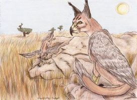 Caracal-FalconGriffons by PoldalleLovesnare