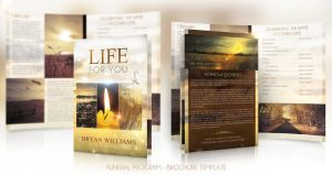 Life for you - Funeral Program Brochure Template by sluapdesign