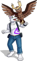 Kenneth and Noctowl by KristKC
