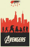 The Avengers variant poster by billpyle