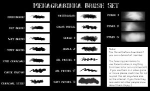 Menagrabinna Brush Set 1 by Inficia