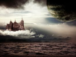 Castle and the Moon Wallpaper by Gabrielle123
