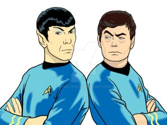 Spock and McCoy by AMaltese