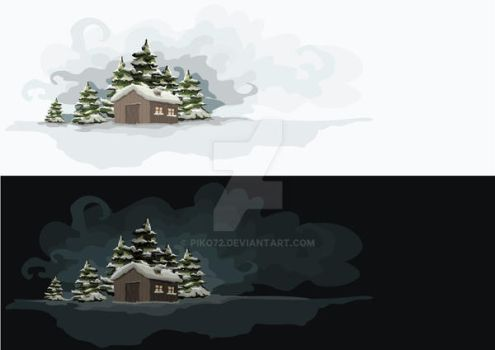 winter night and day by piko72