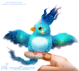 Daily Paint 1750#  Celestatiels - Starry Night by Cryptid-Creations
