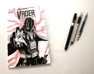 Vader down sketch cover by Estebanned