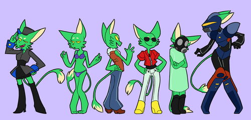space furry wardrobe by D00pcakes