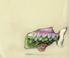 floating fish by LaughtonMcCry