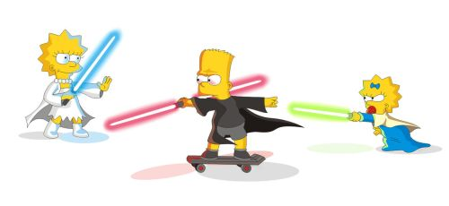 Simpsons/Star Wars crossover/parody. Together by PeterKorbas