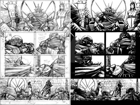 TMNT Deviations Page 12 Pencils and Inks