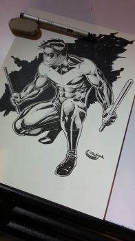nightwing commission inks by Sajad126
