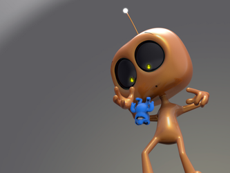 Zbrush Doodle Day 897 - Robot Kid Series 27 by UnexpectedToy