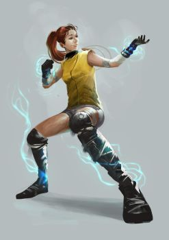 Kinectic Girl by rodmendez